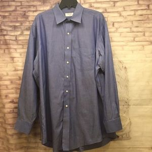 Brooks Brothers 346 Mens 16 1/2-34 Blue Shirt